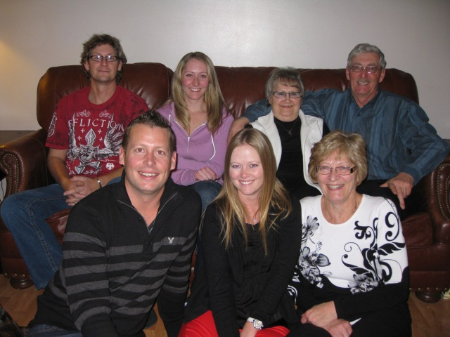 The Rettenmier Clan on Christmas Day at Bev's