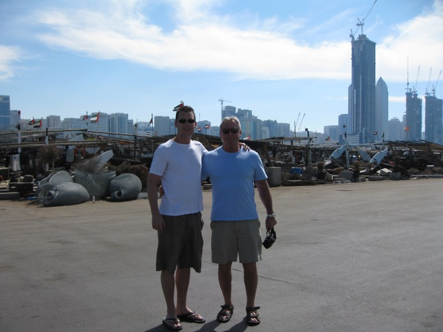 Dan and Dad at the Dhow Harbor