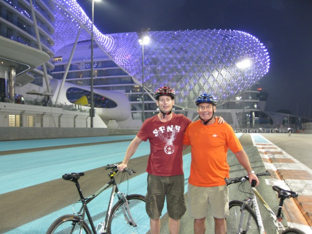 Cycling at Yas Marina F1 Circuit