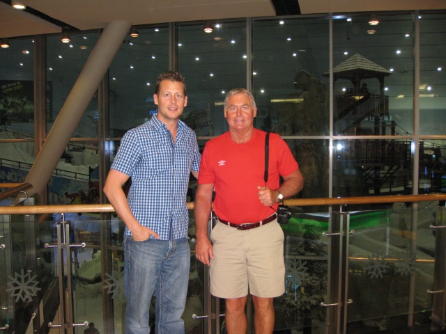 Dan and Dad at Ski Dubai