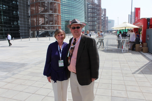 Carole and Barry at Meydan