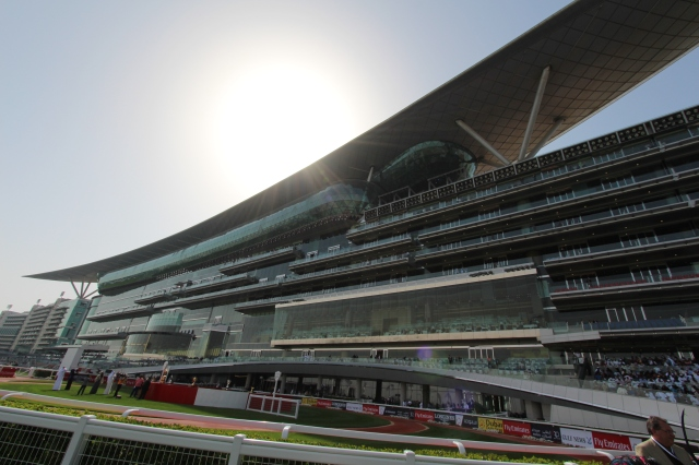Meydan Grandstand in the afternoon