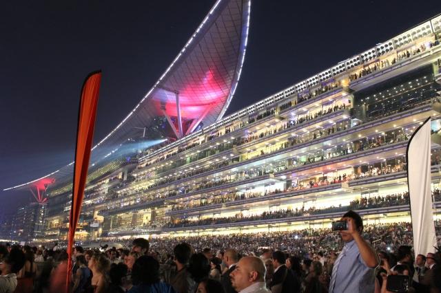 Meydan Grandstand before Race 9