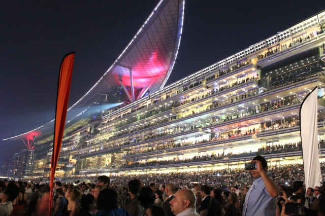 Meydan Grandstand before Race 9