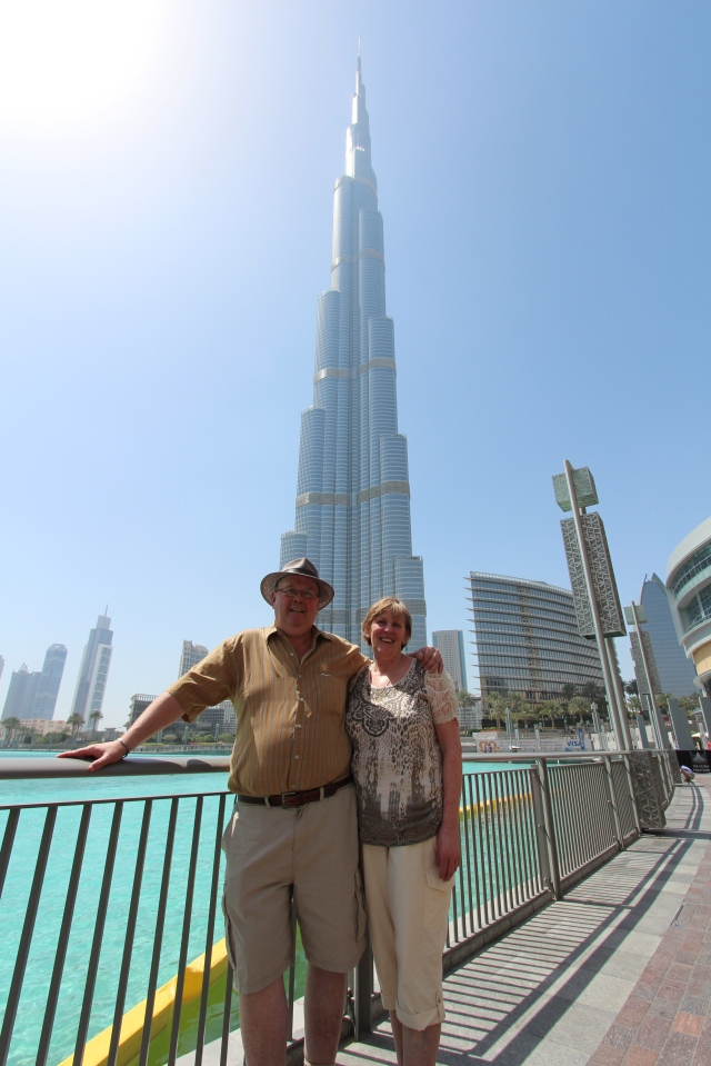 Barry and Carole after conquering the Burj