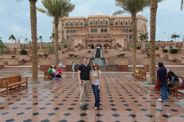 Neil and Bec outside the Palace Hotel