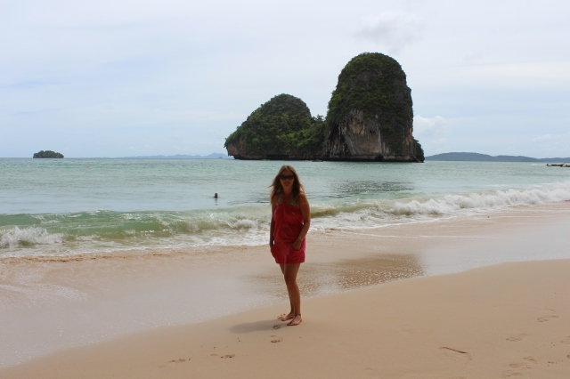 Rebecca on Phra Nang Beach