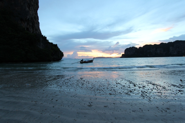 Sunset on West Railay Beach