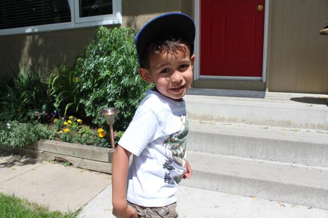 Mr. Wyatt in his Jays hat