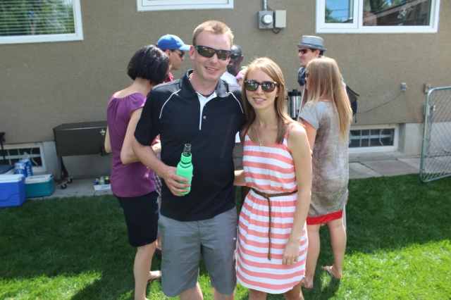 Kevin and Jordyn at the BBQ