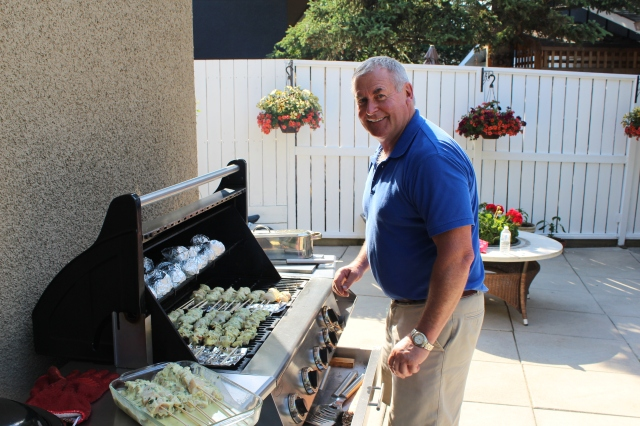 Dad on the grill