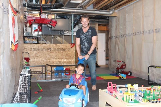 Dan and Wyatt in the Basement of Fun