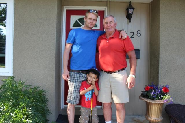 Scott, Wyatt, and Dad