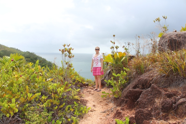 Rebecca on the way to Anse Georgette