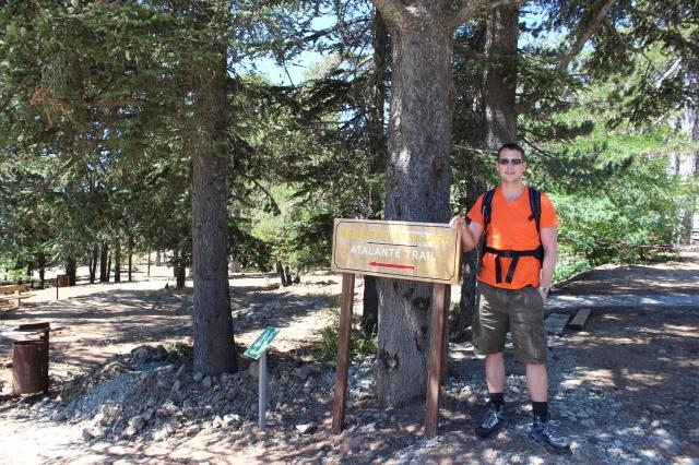 Dan at the Atalante Trail head
