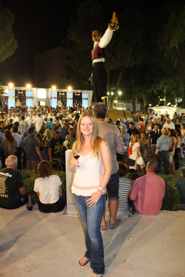 Becca enjoying some wine at the Festival