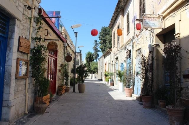 Deserted streets of Old Limassol on Sunday morning