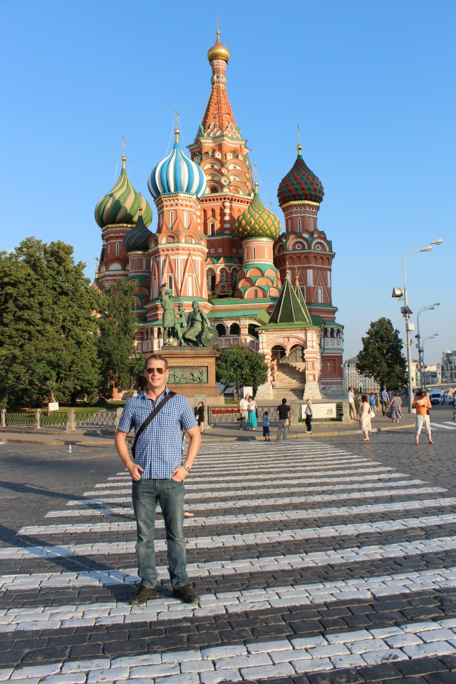 Dan in front of St. Basil's Cathedral