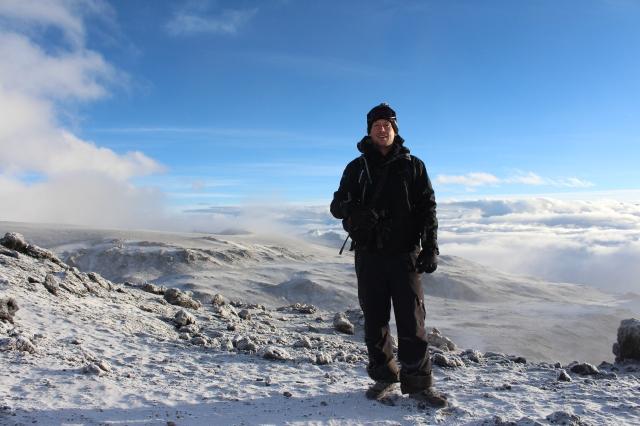 Dan above Kibo volcanic crater