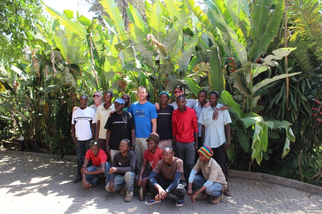 Dan with Team Kilimanjaro after successful summit attempt of Mount Kilimanjaro