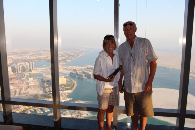 Judy and Vern at Observation Deck at 300
