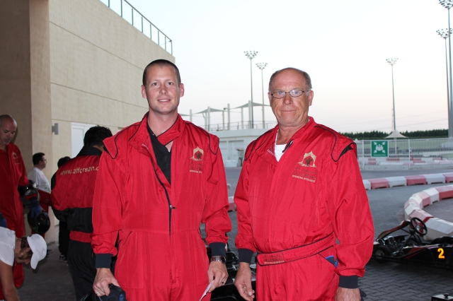 Dan and Vern ready to race