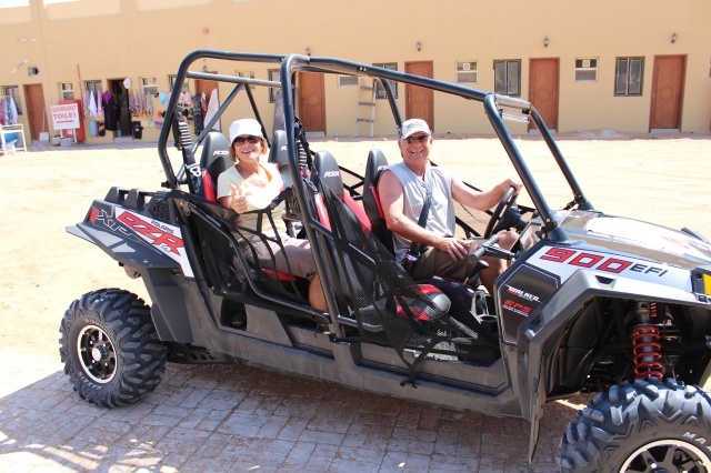 Judy and Vern in the Polaris Razor 900