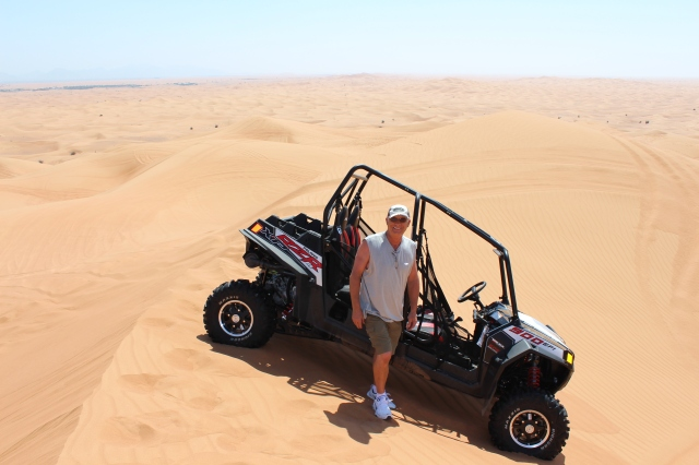 Vern on top of a dune at Big Red