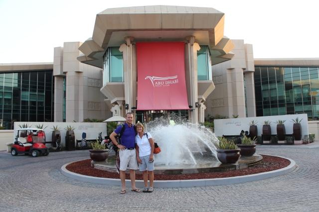 Dan and Mom at the Abu Dhabi Golf Club