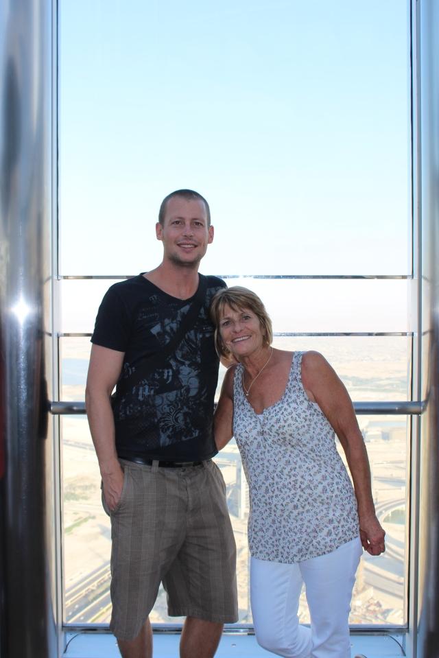 Dan and Mom at the Burj