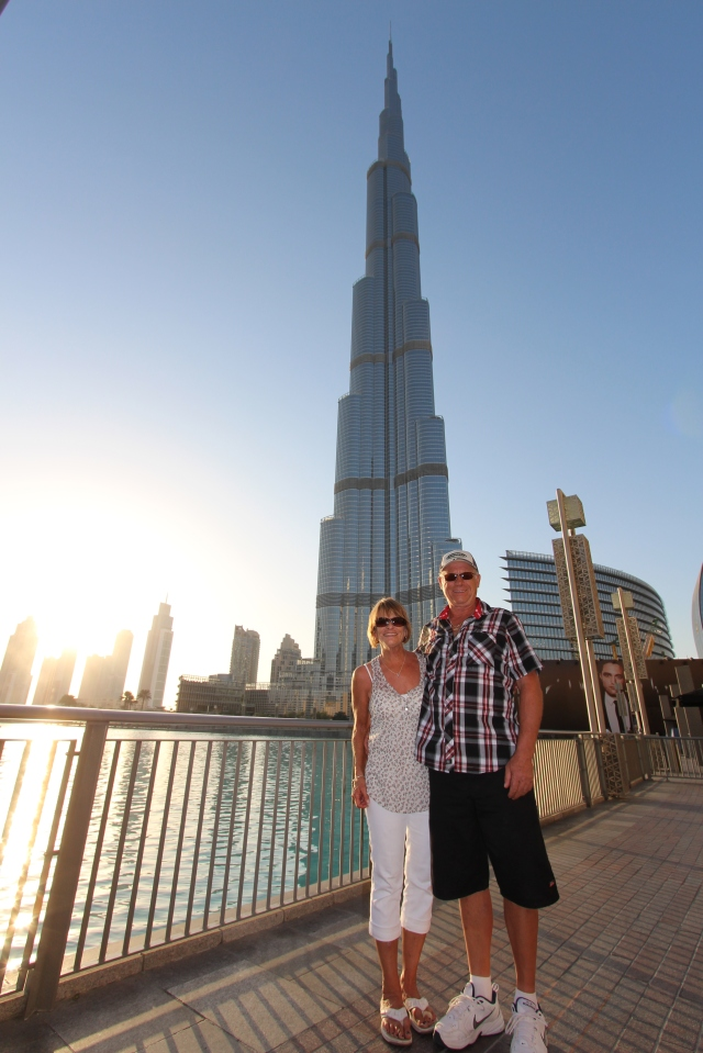 Judy and Vern with the Burj behind