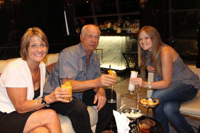 Enjoying a cocktail at Ray's Bar in Jumeirah Hotel