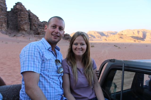 Becca and Dan in Wadi Rum