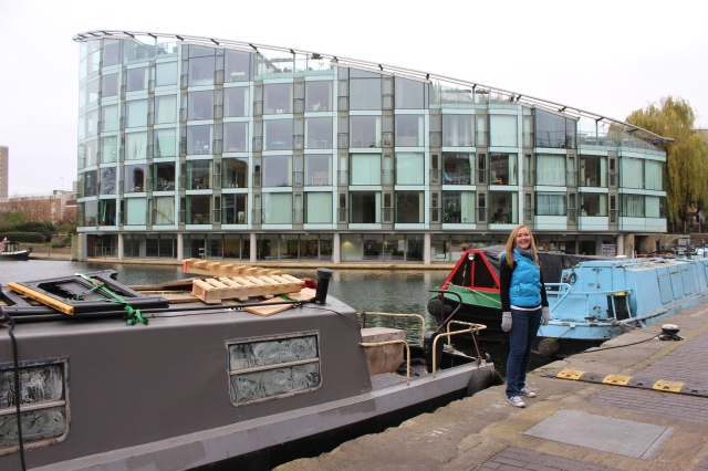 Walking along Regent's canal