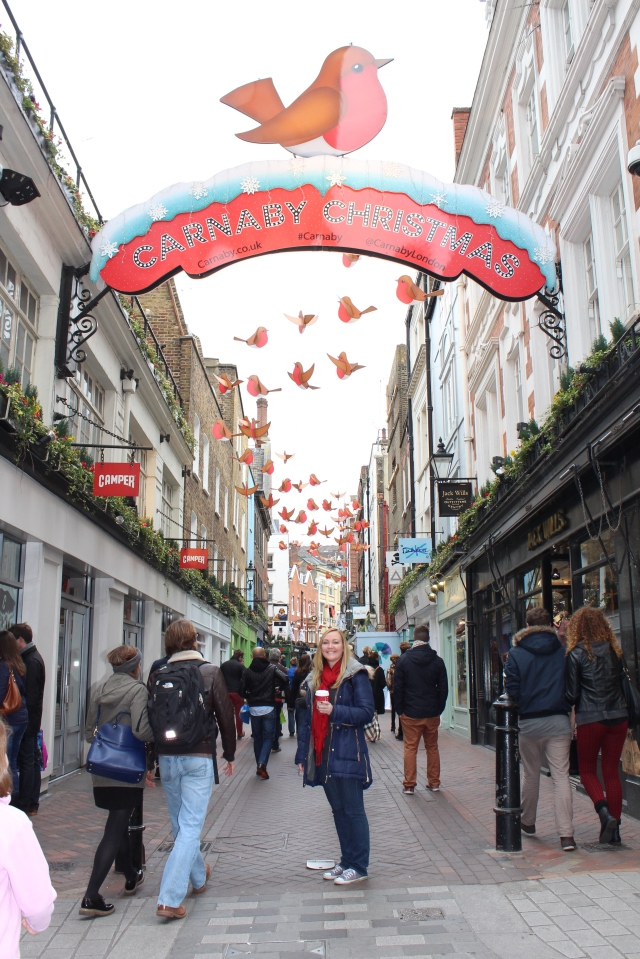 Christmas decorations on Carnaby Street