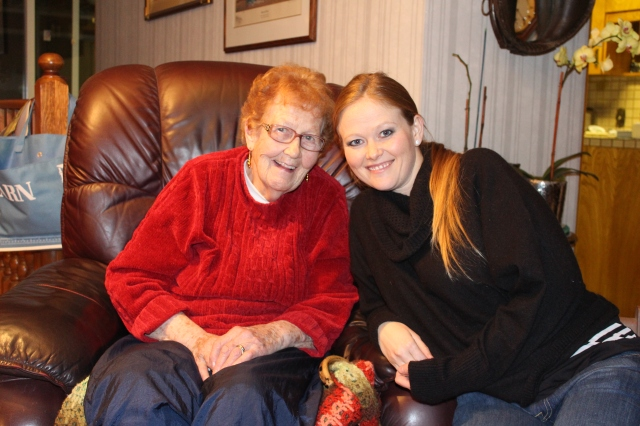 Grandma Margaret and Rebecca - Crib Champions