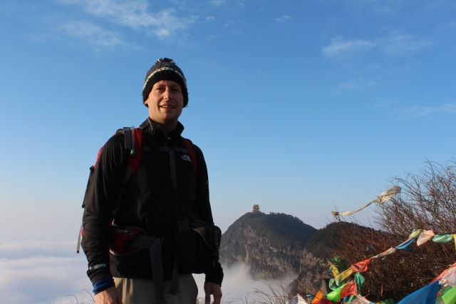 Dan with Wanfu Peak in the background