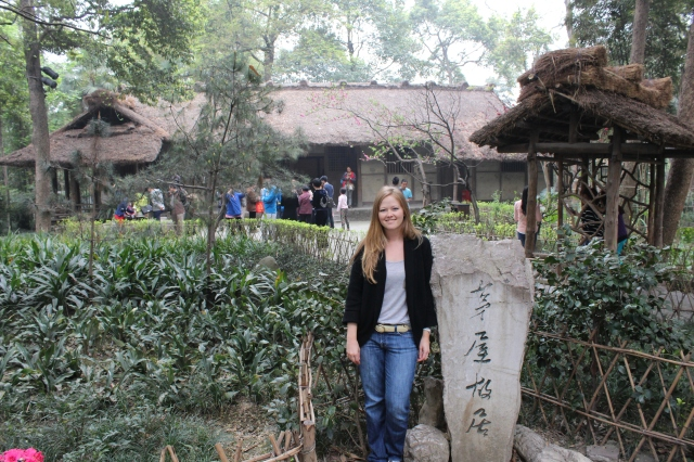 Becca at Du Fu Thatched Cottage