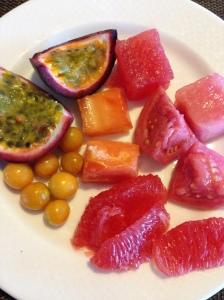 Fresh fruits at breakfast