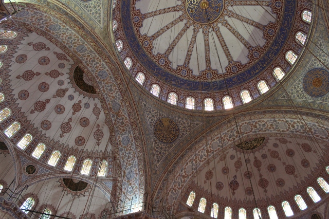 Beautiful domes in the Blue Mosque