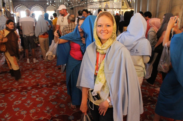 Becca in the Blue Mosque