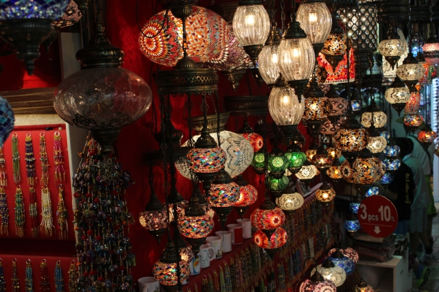Arabic lights in the Grand Bazaar