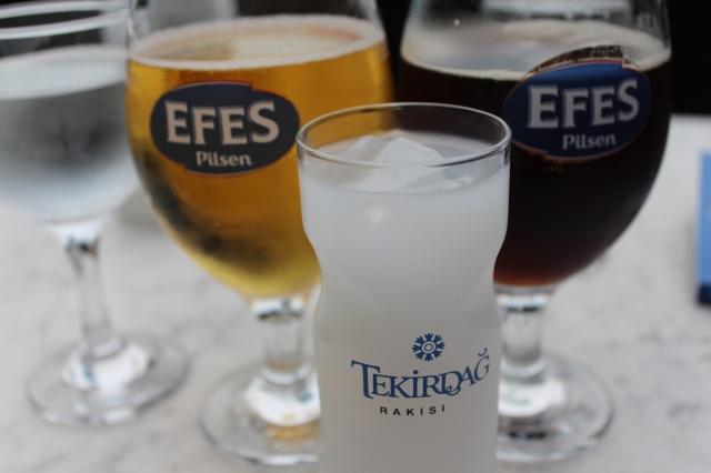 Raki and beer break