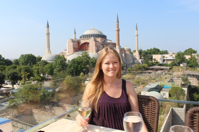 Seven Hills terrace with Hagia Sophia behind