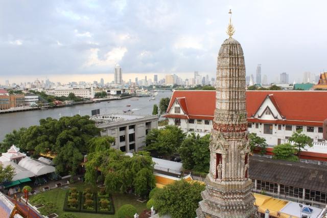 Bangkok's skyline from Wat Arun