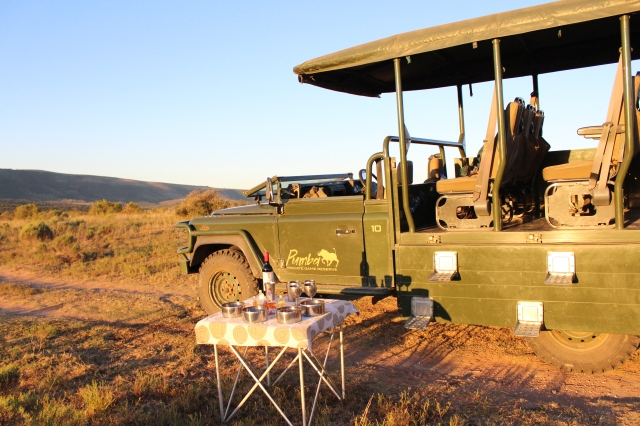 Land Rover sunset snack