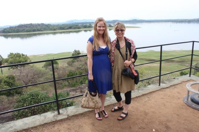Bec and Susan with Kandalama Reservoir