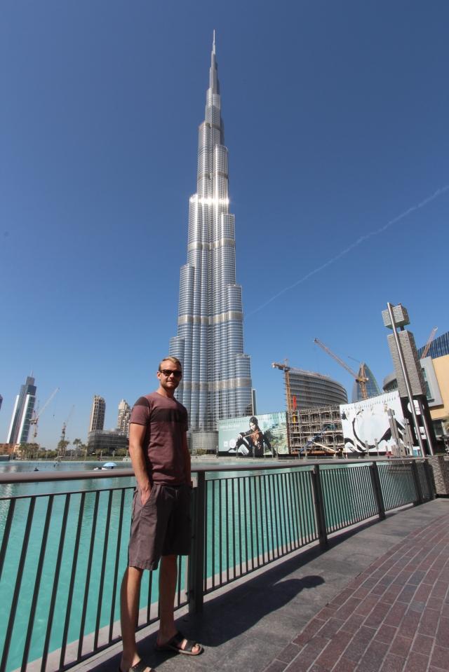Scott at Burj Khalifa