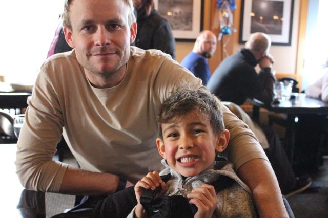 Scott & Wyatt having a Ski break