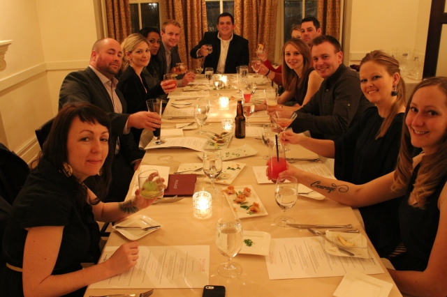 New Year's Eve dinner with our Bridal Party